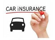 writing car insurance and car image