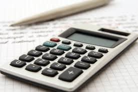 calculator and document